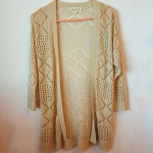 Crochet 3/4 Sleeve Cardigan